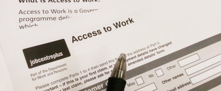 Image of an Access to Work letter header