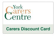 York Carers Centre Discount Card
